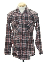 Mens Levis Flannel Western Shirt
