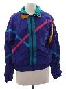 Womens Totally 80s Style Windbreaker Style Jacket