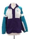 Womens Totally 80s Style Windbreaker Zip Jacket