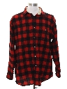 Mens Grunge Lumberjack Plaid Flannel Shirt