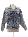 Womens Totally 80s Acid Washed Denim Jacket