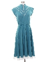 Womens Totally 80s Western Inspired Secretary Dress
