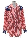 Mens Oh So Subtle Patriotic Western Shirt