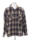 Mens Wool Blend Flannel Shirt