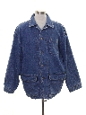 Mens Denim Car Coat Jacket
