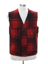 Mens Lumberjack Plaid Wool Pendleton Vest