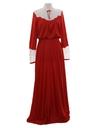 Womens Prairie Style Maxi Cocktail Dress