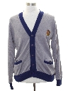 Mens Preppy Ivy League Style Cardigan Golf Sweater