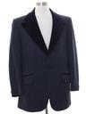 Mens Mod Velvet Lapel Tuxedo Blazer Sport Coat Jacket
