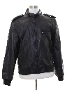 Mens Totally 80s Members Only Cafe Racer Leather Jacket