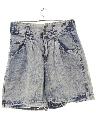 Womens Totally 80s Paperbag Waist Super Highwaisted Baggy Denim Jeans Shorts