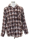 Mens Grunge Faded Flannel Shirt