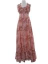 Womens Hippie Prairie Maxi Dress