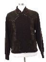Mens Mod Leather Sweater Jacket