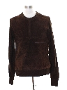 Mens Mod Leather Sweater