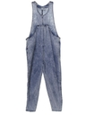 Womens Totally 80s Acid Washed Overall Jumpsuit Pants