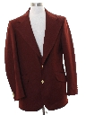 Mens Ron Burgundy Style Disco Blazer Sport Coat Jacket