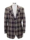 Mens Plaid Disco Blazer Sport Coat Jacket