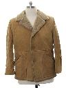 Mens Suede Leather Car Coat Jacket