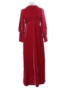 Womens Velvet Prom or Cocktail Maxi Dress