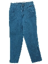 Womens Western Style Tapered Leg Denim Jeans Pants