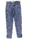Womens Acid Wash Totally 80s Denim Jeans Pants