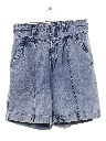 Womens High Waisted Totally 80s Acid Washed Denim Shorts