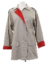 Womens Totally 80s Car Coat Stytle Rain Jacket