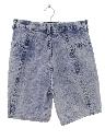 Womens Totally 80s Acid Wash Denim Jeans Shorts