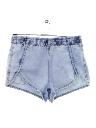 Womens Acid Washed Denim Shorts