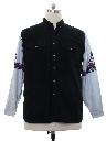 Mens Southwestern Style Western Shirt