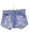 Womens Grunge Levis 501 Denim Cut Off Shorts