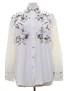 Womens Rodeo Style Embroidered Western Shirt