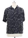Mens Silk Print Sport Shirt
