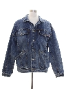Mens Totally 80s Acid Wash Denim Jacket