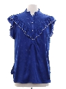 Womens Totally 80s Ruffled Front Shirt