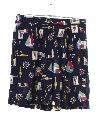 Womens Baggy Rayon Shorts