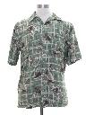 Mens Rayon Hawaiian Style Shirt