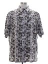 Mens Graphic Print Rayon Sport Shirt