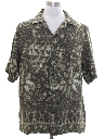 Mens Rayon Graphic Print Sport Shirt