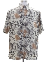 Mens Silk Hawaiian Style Shirt
