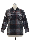 Mens Quilted Lined Flannel Shirt