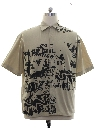 Mens Graphic Print Sport Shirt