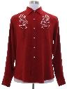 Mens Rodeo Style Gabardine Western Shirt