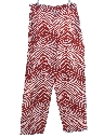Mens Totally 80s Style Print Baggy Pants