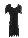 Womens Totally 80s Beaded Cocktail Dress