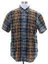 Mens Totally 80s Plaid Preppy Shirt