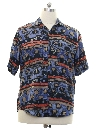 Mens Goouch Totally 80s Graphic Print Silk Shirt