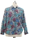 Mens Totally 80s Graphic Print Silk Shirt