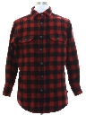 Mens Lumberjack Plaid Wool Blend Flannel Shirt